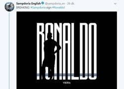 Enlace a La Sampdoria también tiene a su Ronaldo, y lo anuncia a lo CR7