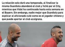 Enlace a El análisis que hizo Guardiola de Arturo Vidal en el Bayern de Múnich