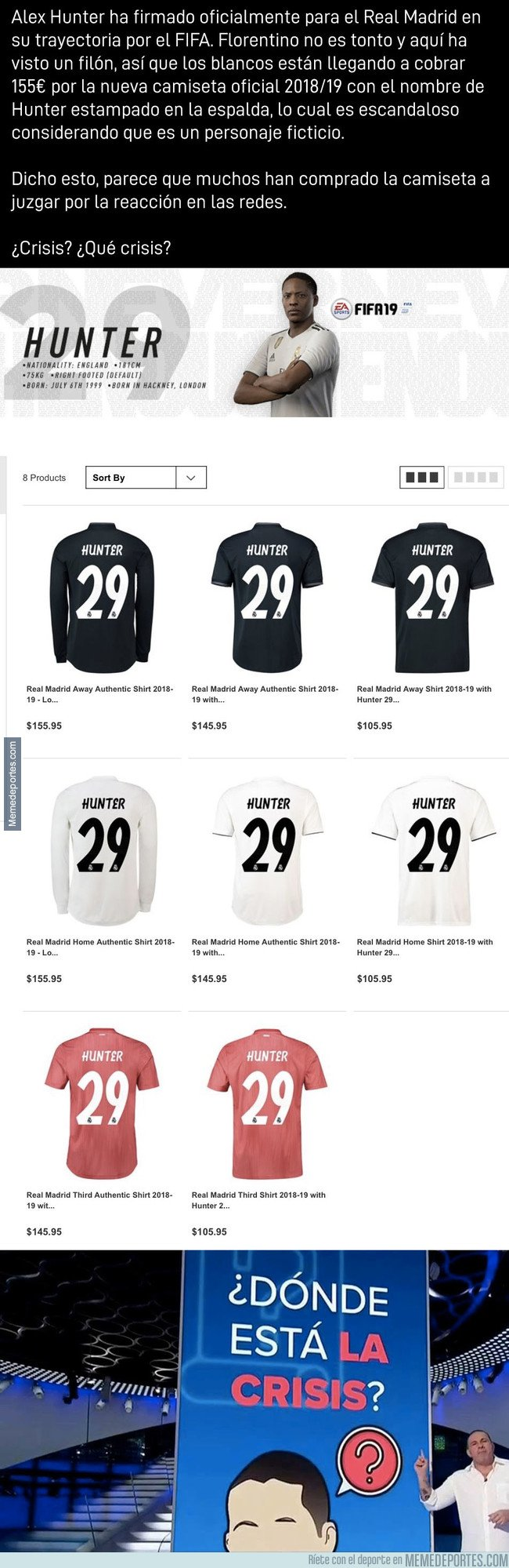 1047106 - Vas a tener que ahorrar mucho si quieres la camiseta oficial de Alex Hunter con el Madrid