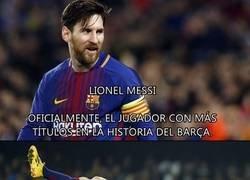 Enlace a Los títulos de Lionel Messi en detalle