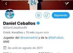 Enlace a Dani Ceballos acepta su pasado y fija en su perfil un tweet de los suyos