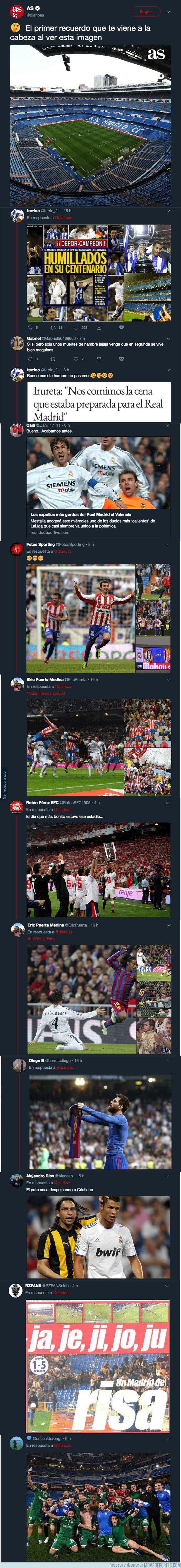 1048424 - El diario AS pregunta sobre lo primero que se te venga a la cabeza al ver el Bernabéu y todos los aficionados le trolean