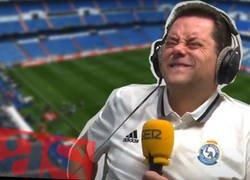Enlace a El diario AS pregunta sobre lo primero que se te venga a la cabeza al ver el Bernabéu y todos los aficionados le trolean