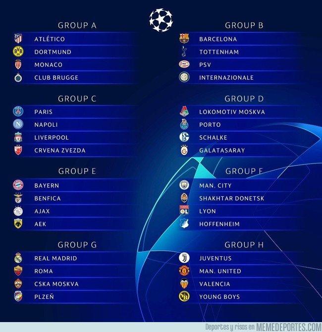 1049016 - Así quedan los grupos de Champions. ¡Vaya tela!