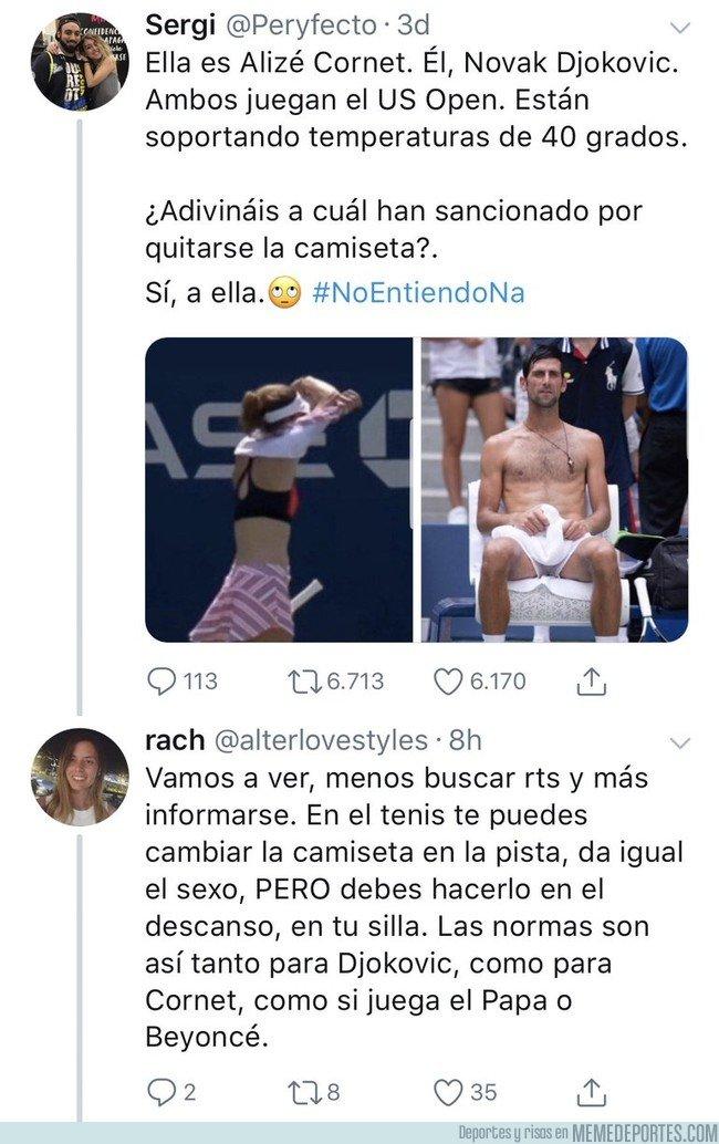 1049308 - No es machismo, las normas son así para hombres y mujeres en el tenis
