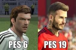 Enlace a La evolución de Beckham en el PES
