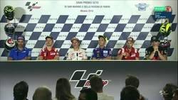Enlace a Rossi se niega a darle la mano a Márquez, todo educación este señor