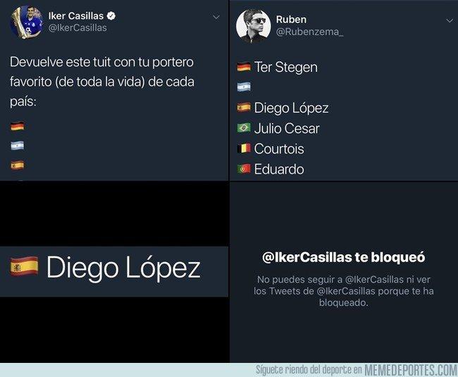 1049853 - Iker se cabrea con un usuario tras publicar una encuesta en Twitter