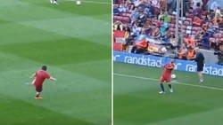 Enlace a REMEMBER: Nunca nos cansaremos de ver este calentamiento de Alves-Messi antes de jugar contra el PSG