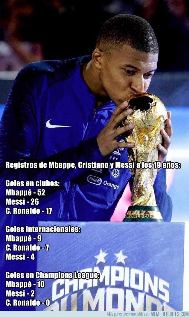 1050292 - Los registros goleadores de Mbappé comparados con Messi y Cristiano dan miedo