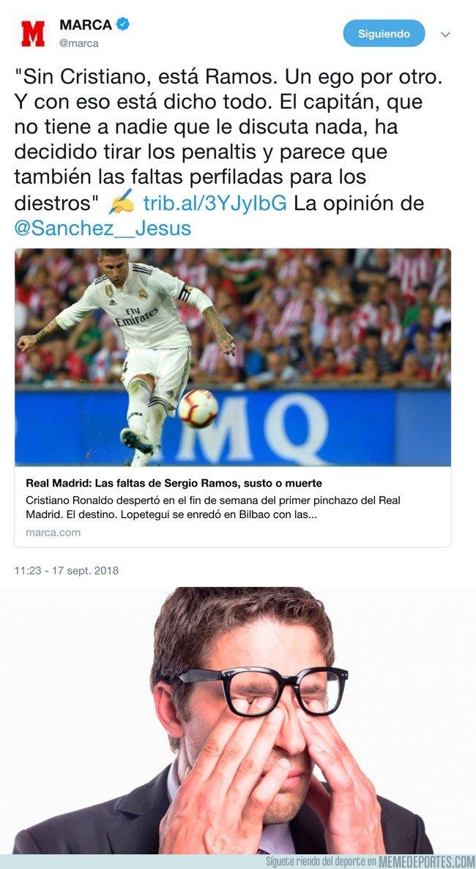 1050568 - ¿Qué ven mis ojos? Marca criticando a Ramos