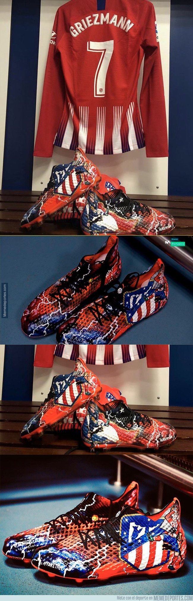 1051828 - Las nuevas botas con las que está jugando Griezmann en el Bernabéu que amarán los jugadores del Fortnite