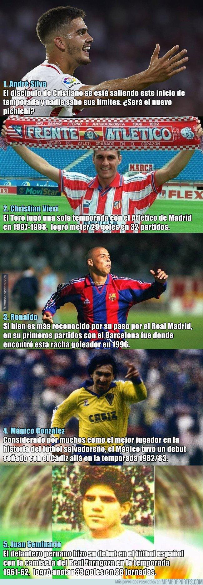1051996 - 5 debutantes de La Liga que también marcaron 7 goles en las 7 primeras jornadas
