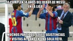 Enlace a El gran debut de Messi en liga