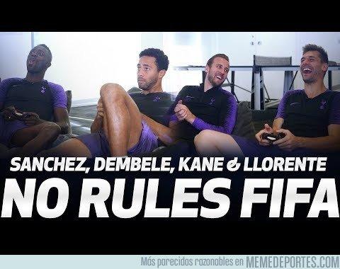 1053487 - Kane-Llorente Dembélé-Davinson se baten a un duelo sin reglas en el FIFA19