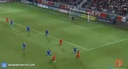 Enlace a Diogo Gonçalves y el gran gol que anotó en un partido sub-21