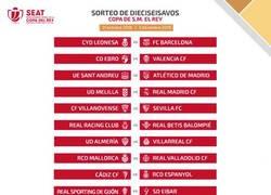 Enlace a Cuadro de eliminatorias de dieciseisavos de final de la Copa Del Rey