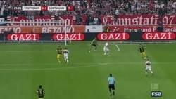 Enlace a Alcácer sige ''on fire'' marca y el Dortmund ya le mete 3 al Stuttgart
