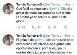Enlace a ¡El gafe de Roncero actúa en solo 5 minutos con el Castilla!