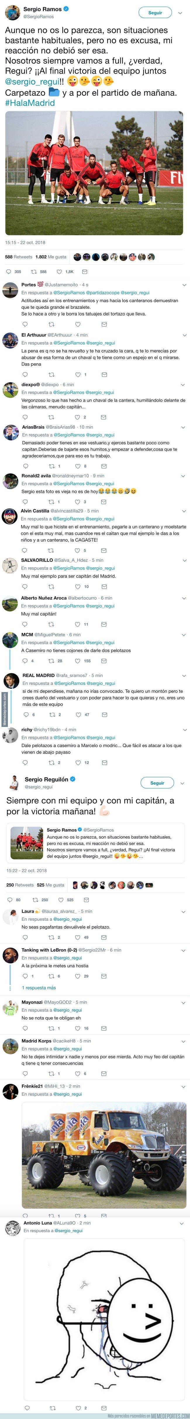 1053941 - Sergio Ramos quita hierro al percance con Reguilón y la gente le dice de todo indignadísima