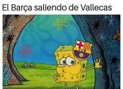 Enlace a El Barça sufrió su victoria en Vallecas