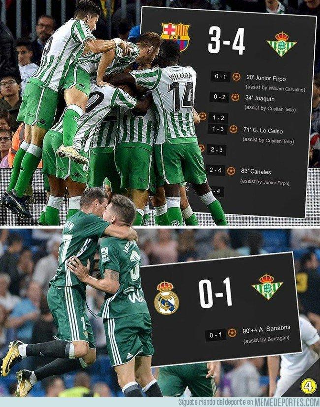 1056091 - En poco más de un año, el Betis ha conseguido ganar en el Camp Nou y en el Bernabéu, por @433