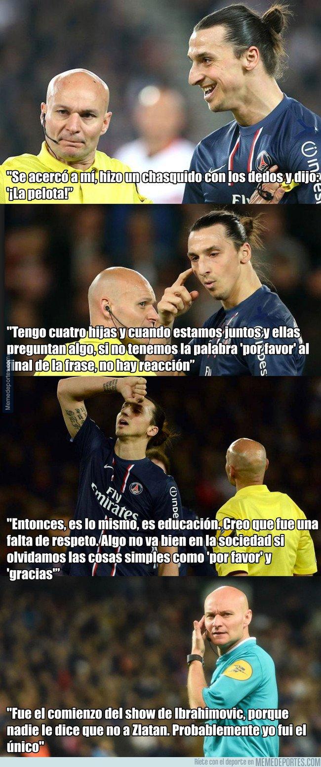 1056194 - Árbitro explica por qué no le dio el balón a Zlatan tras su hat trick. Y el cabreo que se llevó