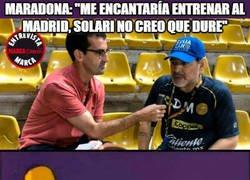 Enlace a Maradona quiere ser entrenador del Real Madrid