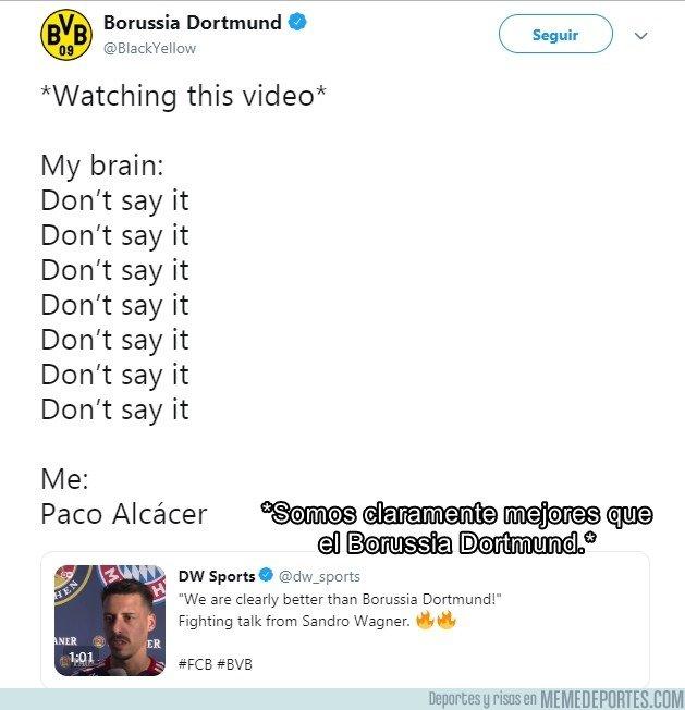 1056426 - El pique en esta respuesta del Dortmund a las declaraciones de Sandro Wagner