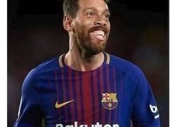 Enlace a AS pide nombre para este cutre-chop de Messi y Ronaldinho y las respuestas son lo mejor de un día sin ligas
