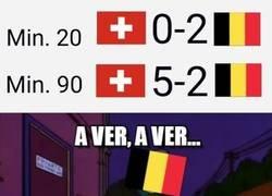 Enlace a El Suiza-Bélgica fue una locura