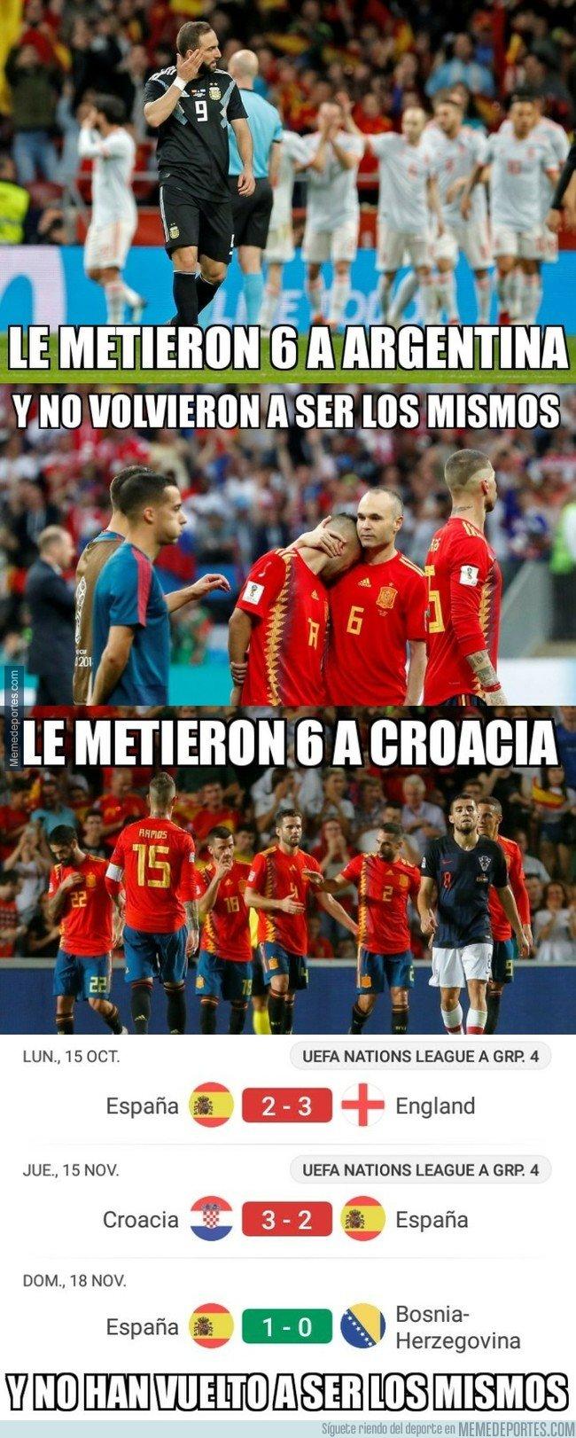 1056643 - La terrible coincidencia en lo que le pasa a España tras meter 6 goles en un mismo partido