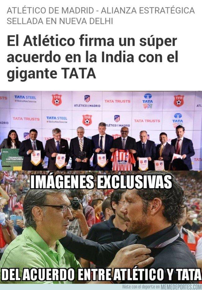 1056855 - El Atlético y TATA firman un acuerdo