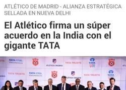 Enlace a El Atlético y TATA firman un acuerdo