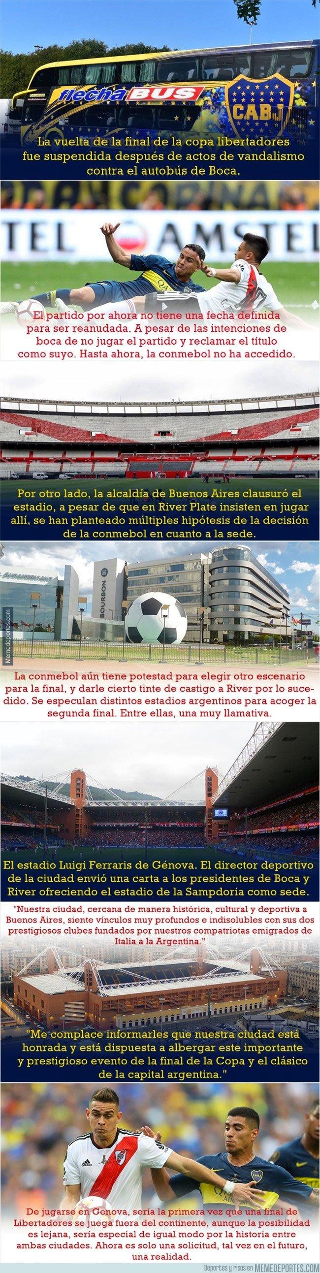 1057337 - Proponen una ciudad europea como sede para la final de la Copa Libertadores