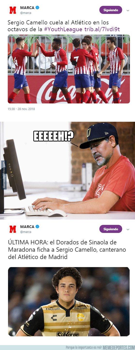 1057525 - Maradona trae a su equipo un jugador que para él