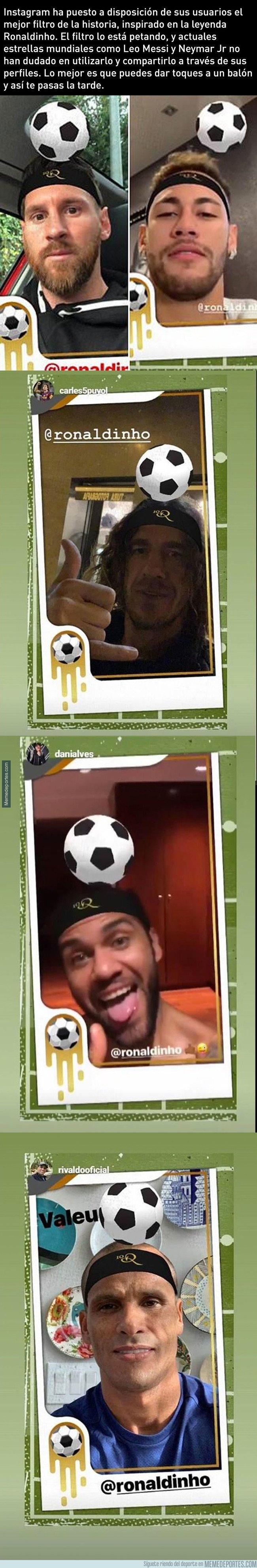 1057715 - Instagram ha sacado un nuevo filtro en que te conviertes en Ronaldinho, y lo está petando