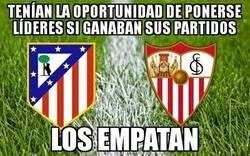 Enlace a Ni Atlético ni Sevilla aprovecharon la oportunidad