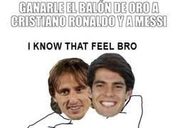 Enlace a Kaká y Modrić saben qué se siente ganarle el balón de oro a Cristiano y a Messi