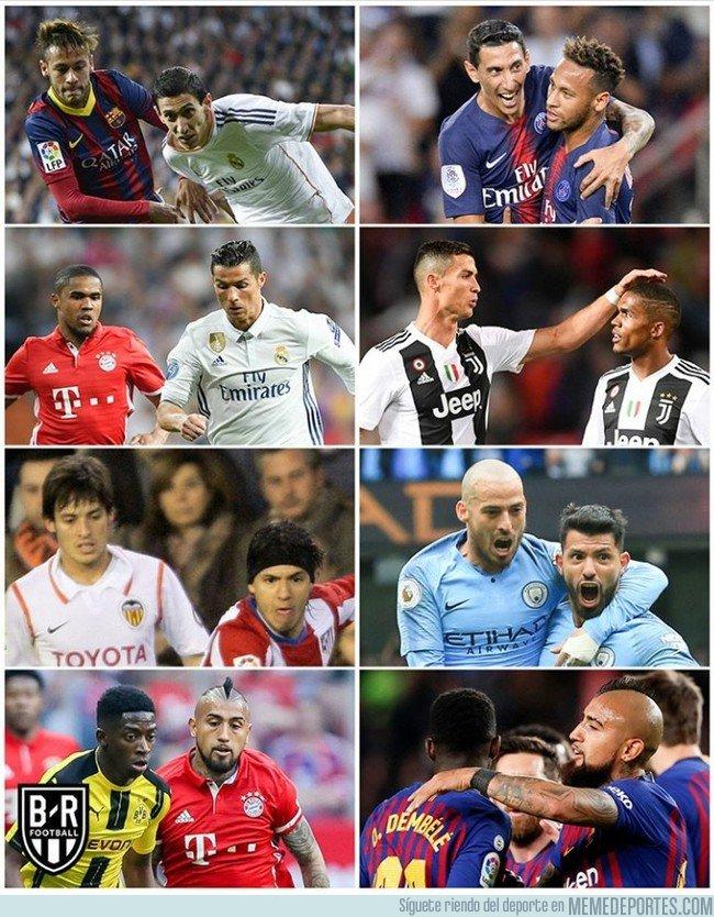 1058326 - Compañeros que en su día fueron rivales, por @brfootball