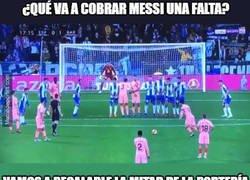 Enlace a Entiendo la molestia, Messi sí le atina a la portería