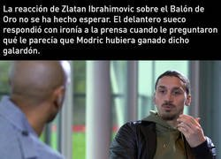 Enlace a La opinión de Zlatan del balón de oro y su recadito a Florentino