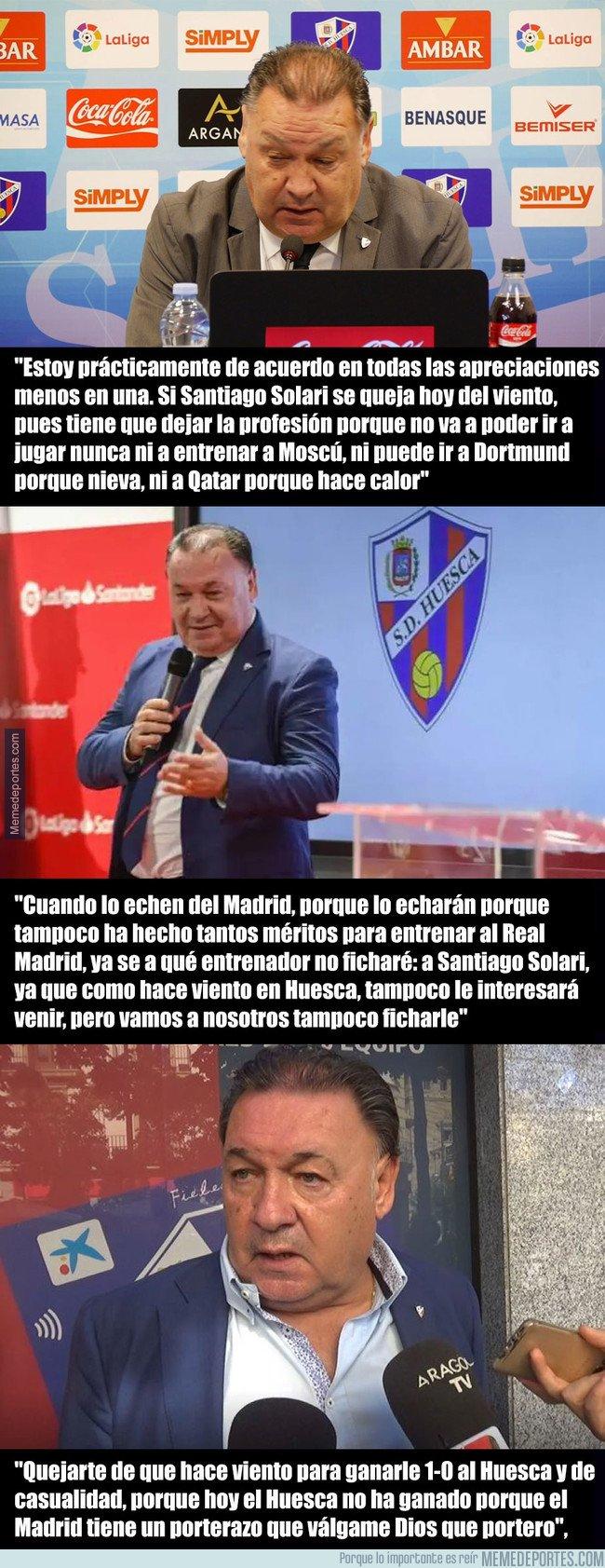 1058674 - El presidente del Huesca va a fuego contra Solari, cuánto hate