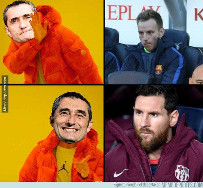 1058795 - Valverde prefirió sentar a Messi antes que a Rakitic