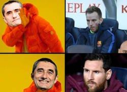 Enlace a Valverde prefirió sentar a Messi antes que a Rakitic