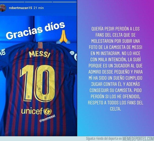 1059918 - Róbert Mazáň ha tenido que pedir disculpas a la afición por subir una foto con la camiseta de Messi. Así estamos