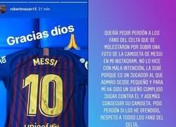 Enlace a Róbert Mazáň ha tenido que pedir disculpas a la afición por subir una foto con la camiseta de Messi. Así estamos