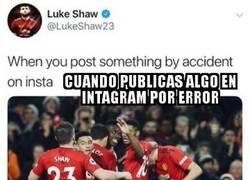 Enlace a Luke Shaw le dedica un meme a su compañero Pogba