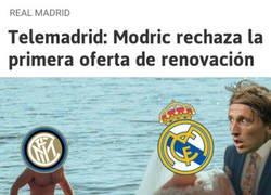 Enlace a Parece que Modric sigue con la idea de cambiar de aires