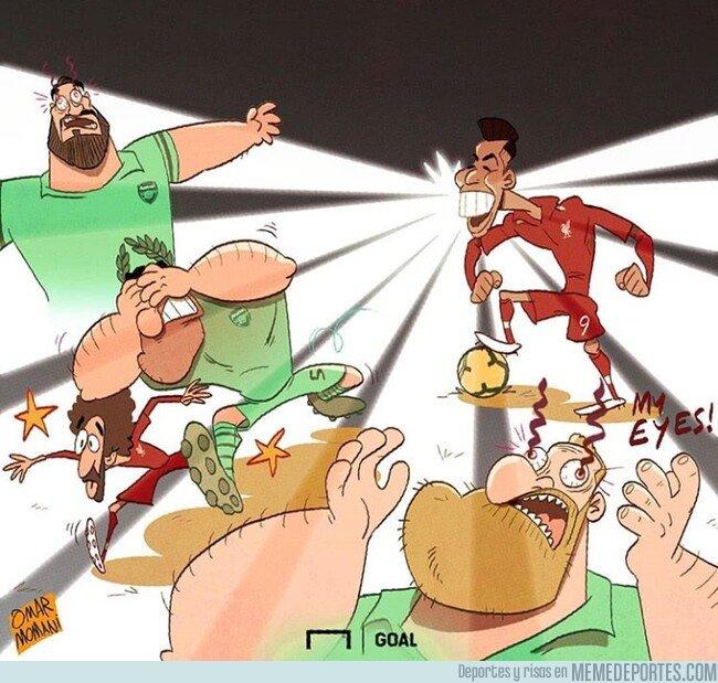 1060260 - La actuación de Firmino ante el Arsenal fue resplandeciente, por @goalglobal